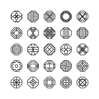 Octagon geometric vector icon