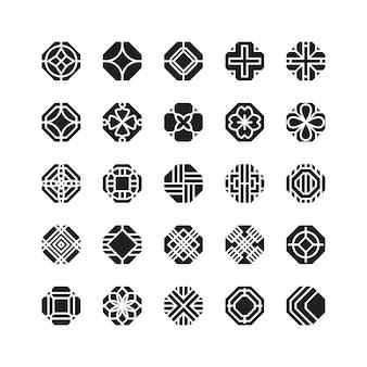 オクタゴン幾何ベクトルアイコン