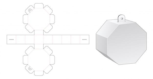 걸림 새 구멍 다이 컷 템플릿 팔각형 포장 상자