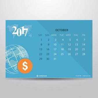 Октябрь 2017 календарь