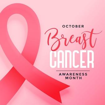 October awareness month of breast cancer background