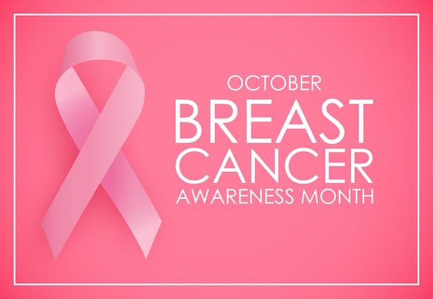 October breast cancer awareness month concept background.
