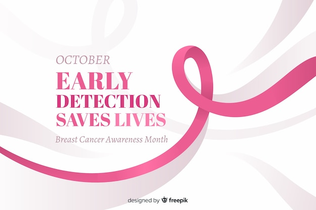 October early detection saves lives text for breast cancer awareness