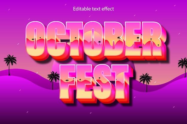 October fest editable text effect cartoon style