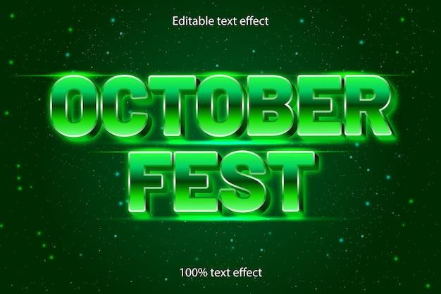 10월 축제 편집 가능한 텍스트 효과 복고 스타일