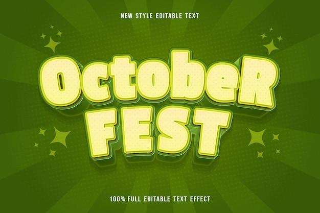 October fest editable text effect