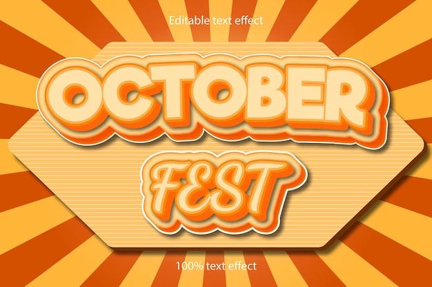 10월 축제 편집 가능한 텍스트 효과
