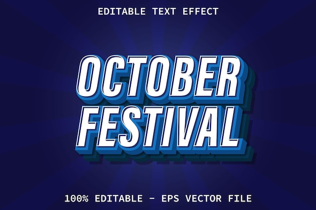 October festival with modern style editable text effect