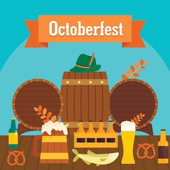 Octoberfest beer background