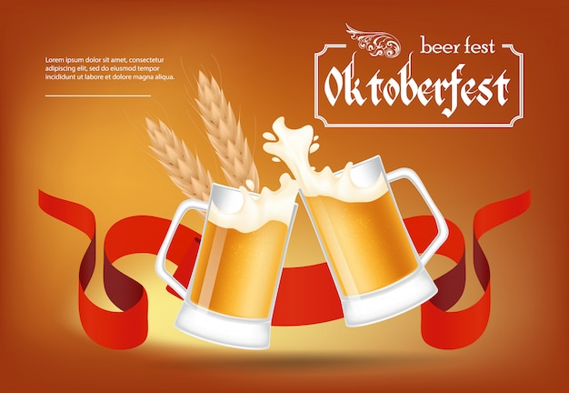 Octoberfest, beer fest poster design