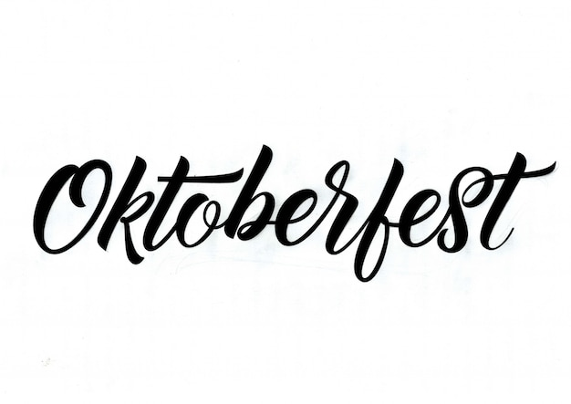 Octoberfest calligraphic inscription