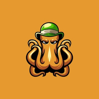 Octopus cap mascot design