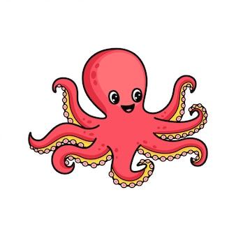 Карикатура осьминога