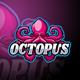 Octopus esport logo mascot template