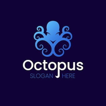 Octopus logo background concept