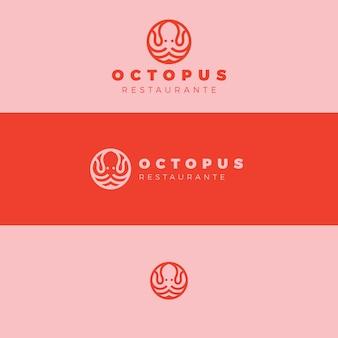 Осьминог концепция дизайна логотипа