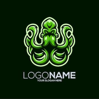 Octopus logo design illustration