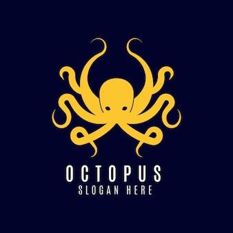 Стиль логотипа осьминог