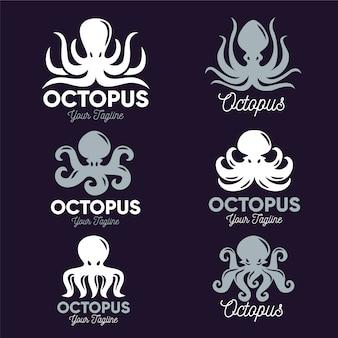 タコのロゴのテンプレートデザイン