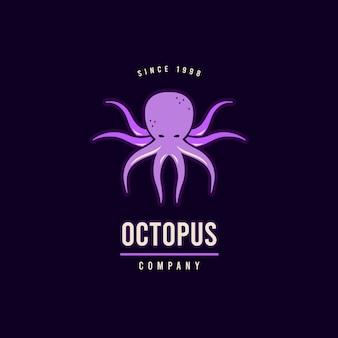 Шаблон логотипа осьминог