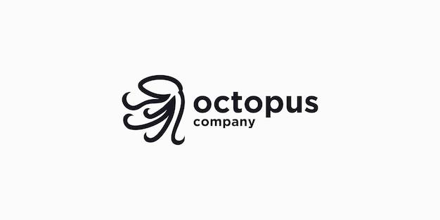Octopus logo vector icon illustration