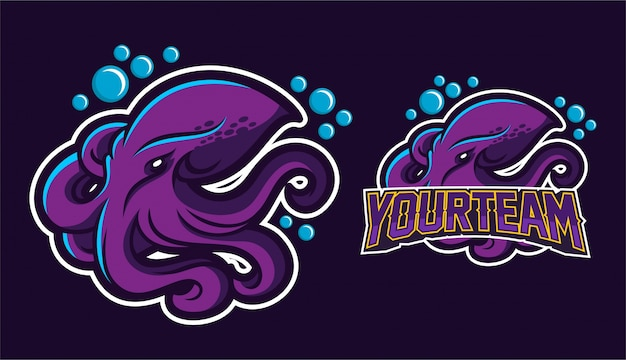 Octopus mascot logo design