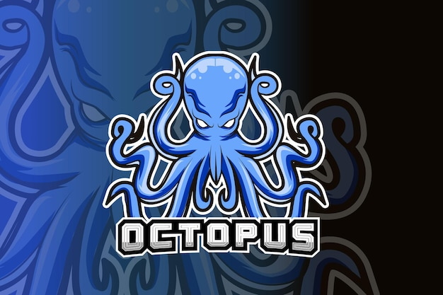 Octopus mascot logo for electronic sport gaming
