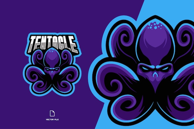 Осьминог талисман спортивный логотип иллюстрации