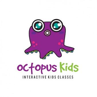 Шаблон логотипа octopus