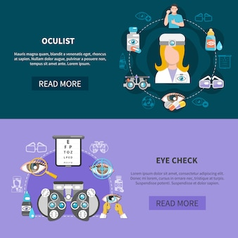 Oculist eye testバナー