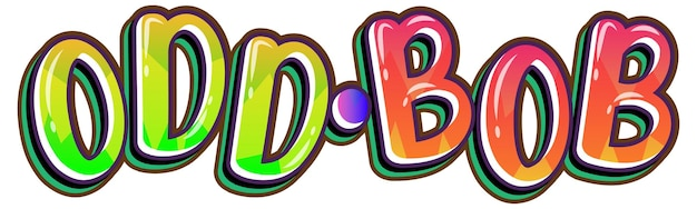 Logo di parola bob strano su sfondo bianco