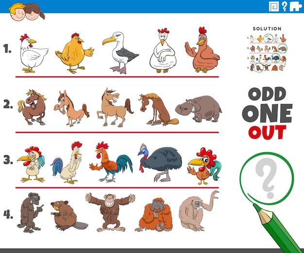 Странная игра с изображением животных