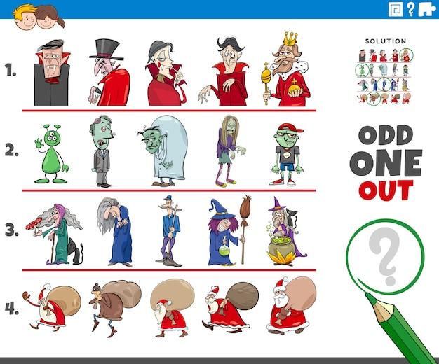 야생 휴일 캐릭터와 함께 이상한 하나의 그림 게임