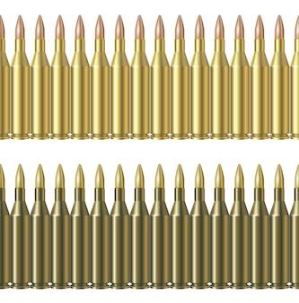 白い背景で隔離の弾丸パターンラインの。陸軍の弾薬