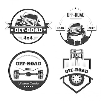 Off-road 4x4 extreme car club logo templates or badges
