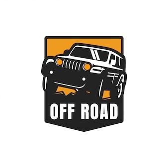 オフロードアドベンチャーのロゴのベクトル