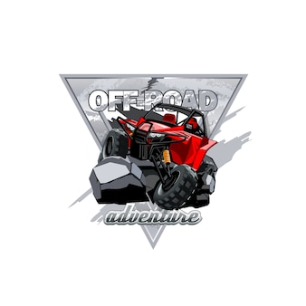Off-road atv buggy logo