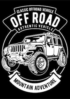 Off road car poster