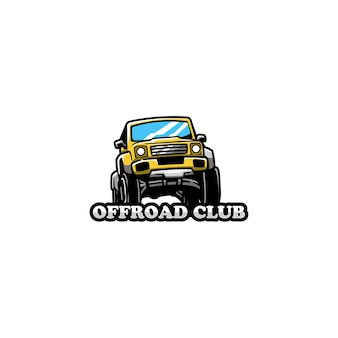 Off road cars land wheel auto rock logo