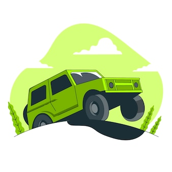 Off road concept illustration