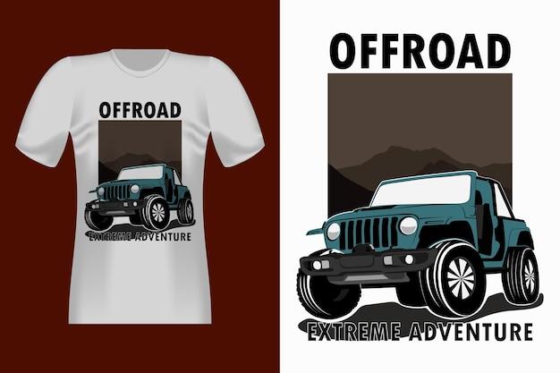 Off-road extreme adventure vintage t-shirt design