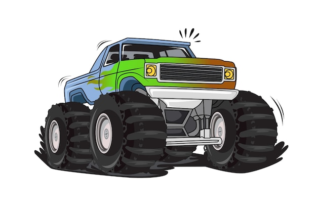 Off road monster truck illustration vector