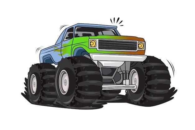 Внедорожный вектор иллюстрации грузовика-монстра