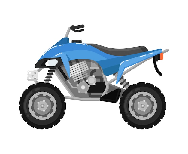 Off road motorbike isolated icon in flat design