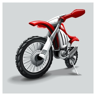 Off-road red motorbike