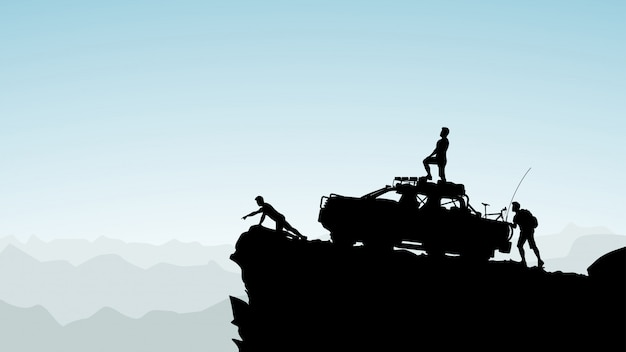 Внедорожник в горах