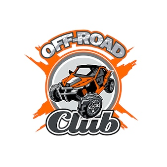 Off-road utv club logo with orange buggy in center