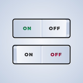 On off switch button