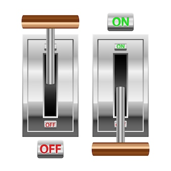 On and off switch isolated