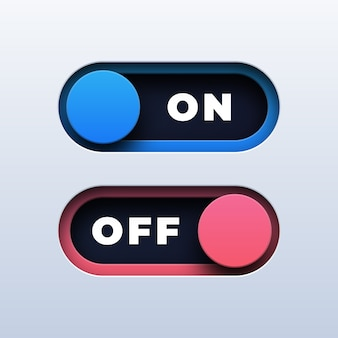 On off toggle switch button